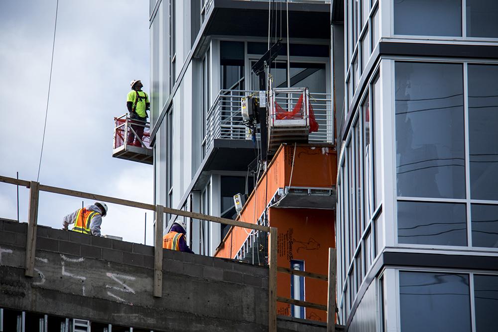 Construction around Confluence Park, May 17, 2017. (Kevin J. Beaty/Denverite)  confluence park; construction; development; denver; colorado; kevinjbeaty; denverite;