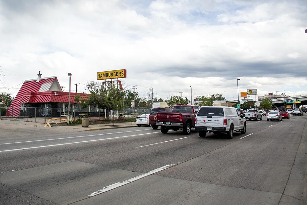 An old burger joint at 742 South Broadway, May 17, 2017. (Kevin J. Beaty/Denverite)  south broadway; development; construction; kevinjbeaty; denver; denverite; colorado;
