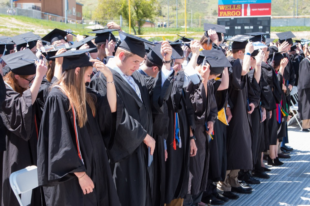 2016 College of Earth Resource Sciences and Engineering graduates at Colorado School of Mines.(Agata Bogucka/Flickr)