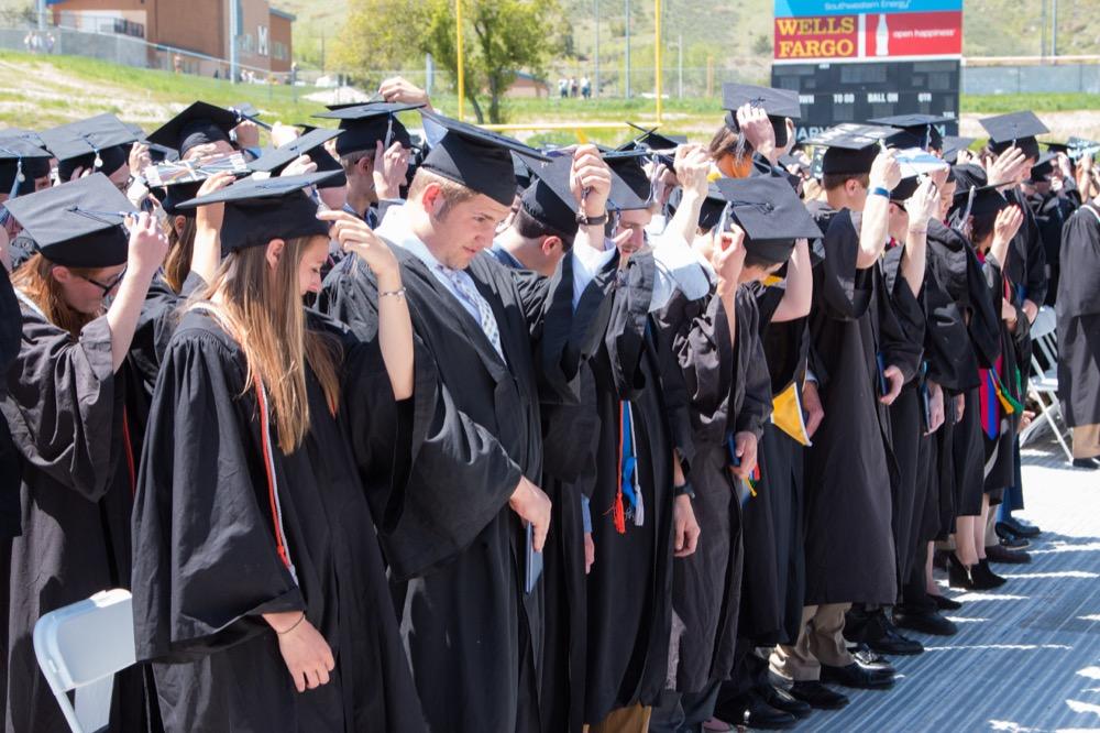 2016 College of Earth Resource Sciences and Engineering graduates at Colorado School of Mines.(Agata Bogucka/Flickr)