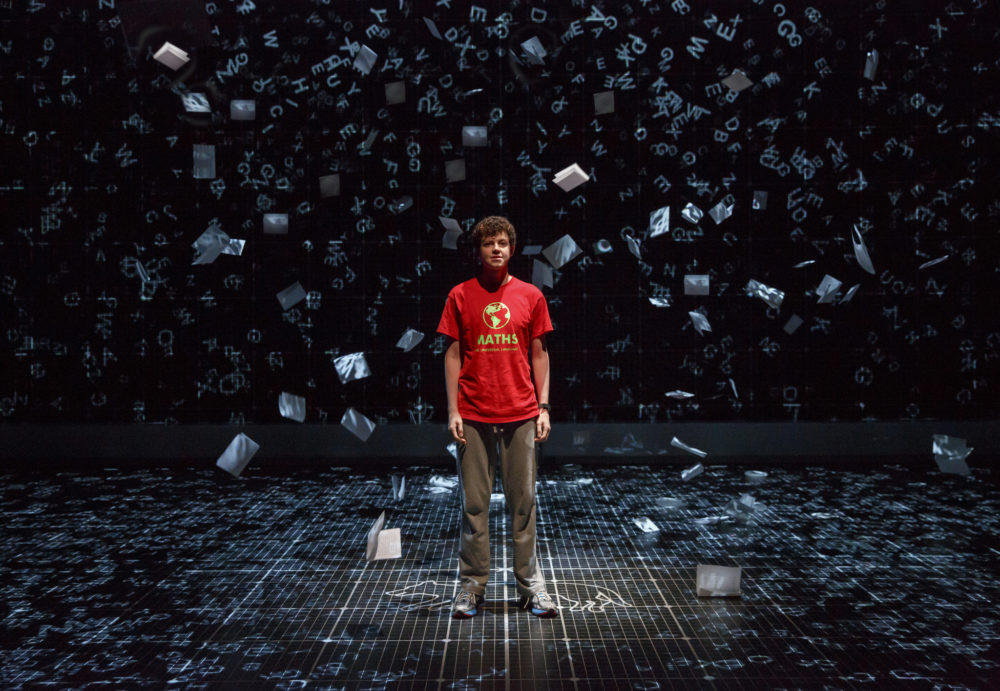 "Adam Langdon as Christopher Boone in ""The Curious Incident of the Dog in the Night-Time."" (Photo: Joan Marcus)"