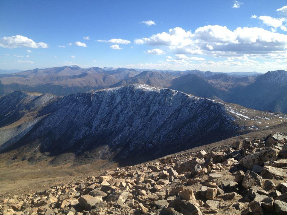 The view from Mt. Elbert, Colorado's tallest 14er. (Ashley Dean/Denverite)