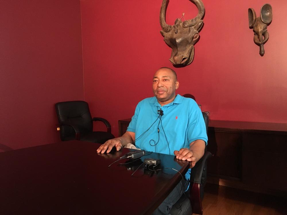 Deon Jones at David Lane's law office. (Andrew Kenney/Denverite)