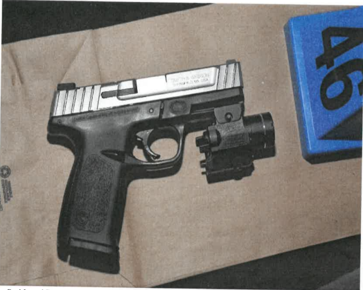 The pistol found by Juan Ramos' body. (District Attorney)