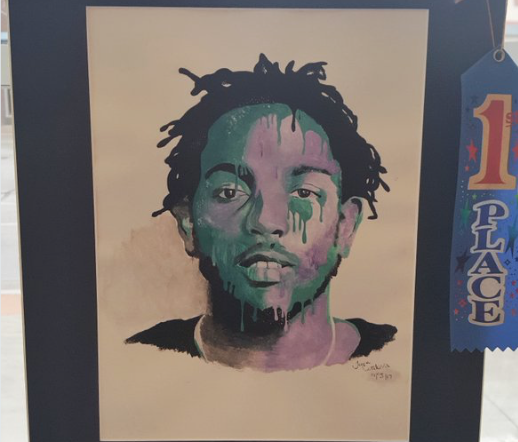 "Kendrick Lamar portrait ""Utmost Appreciation"" by Pueblo high school student Tiona Cordova. From Twitter account of Rep. Scott Tipton"