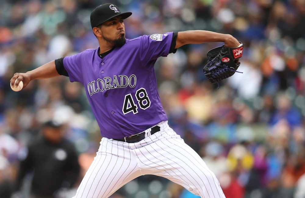 Germen Marquez flirted with a no-hitter in the Rockies' 3-0 win over the Cubs on Wednesday. (Chris Humphreys/USA Today Sports)