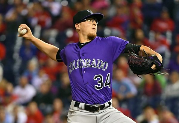 Jeff Hoffman pitched seven strong innings as the Rockies beat the Phillies on Monday. (Eric Hartline/USA Today Sports)