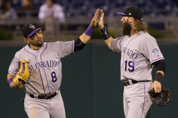 The Rockies, led by Charlie Blackmon, got another easy win over the Phillies on Tuesday. (Bill Streicher/USA Today Sports)