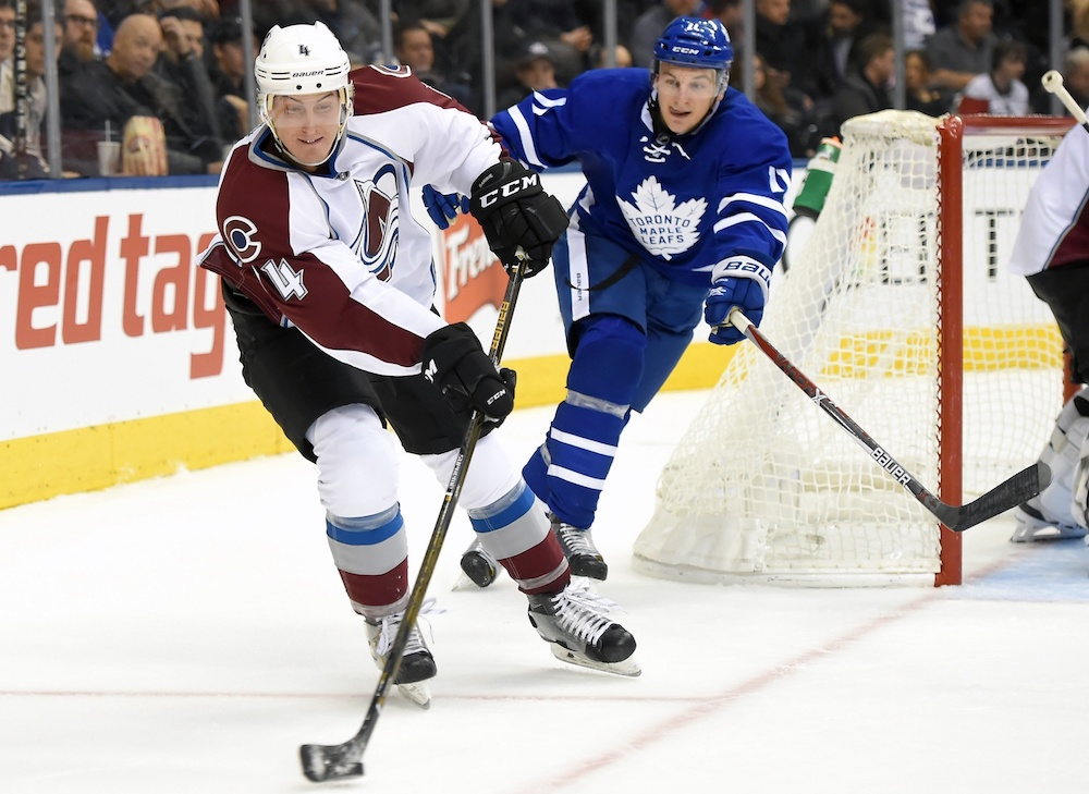 Tyson Barrie reportedly got hurt wrasslin' a teammate. (Dan Hamilton/USA Today Sports)
