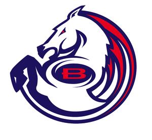 A work-in-progress design sketch of a Denver Broncos logo that never came to be. (Courtesy Rick Bakas)