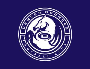A work-in-progress design sketch of the Denver Broncos logo. (Courtesy Rick Bakas)