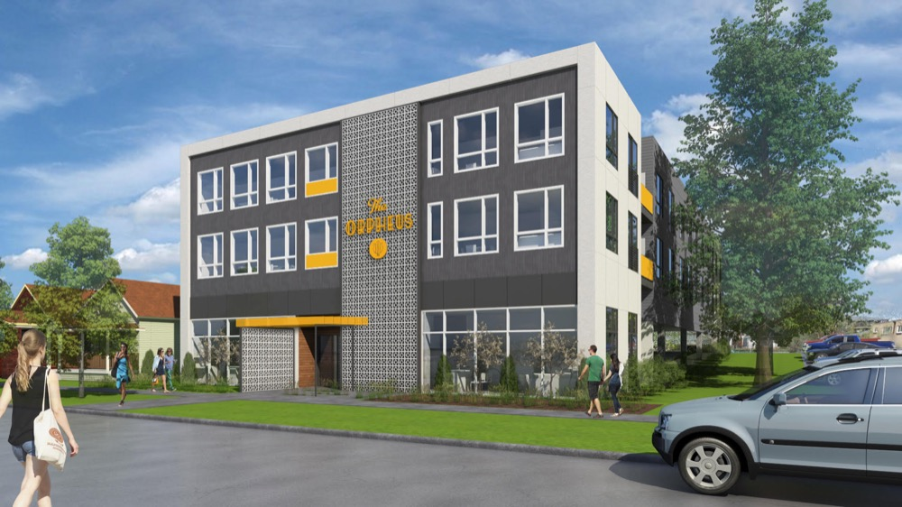 The Orpheus condominium project slated for Jefferson Park near 2835 W. 24th Ave. (Courtesy of Mainspring Developers)