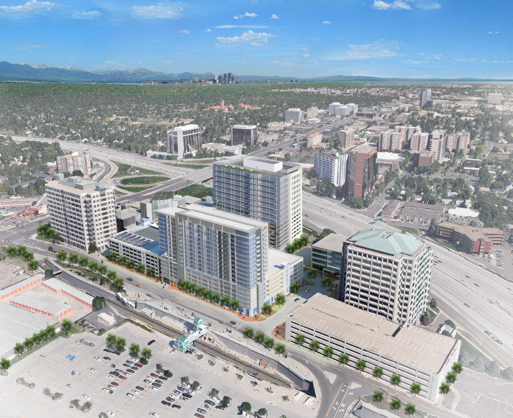 A rendering showing Tower III at the Colorado Center. (Courtesy of Lincoln Property Co.)