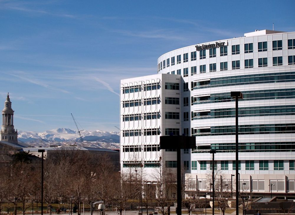 The Denver Post building in downtown Denver. (David Shankbone/Wikimedia Commons/CC)