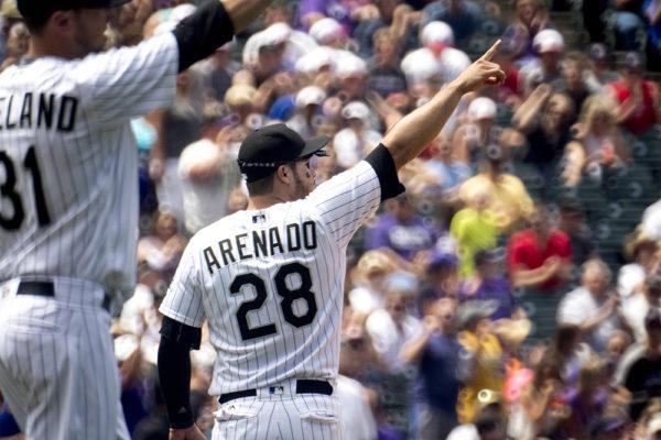 Nolan Arenado. Colorado Rockies vs the Cleveland Indians, June 7, 2017. (Kevin J. Beaty/Denverite)  colorado rockies; denver; sports; baseball; coors field; kevinjbeaty; denverite; colorado;
