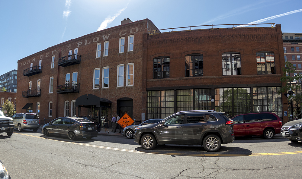 The John Deere Plow Co. Building, 1488 Wazee Street and also 1530 15th Street. (Kevin J. Beaty/Denverite)  denverite; colorado; historic properties; residential real estate; kevinjbeaty; denver;