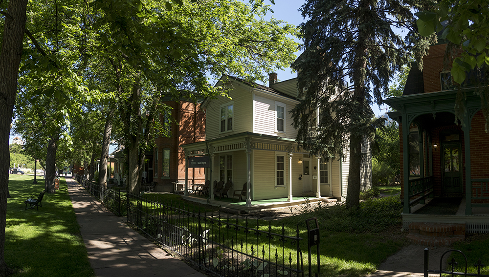 The Auraria Ninth Street Historic District. (Kevin J. Beaty/Denverite)  denverite; colorado; historic properties; residential real estate; kevinjbeaty; denver; auraria campus;