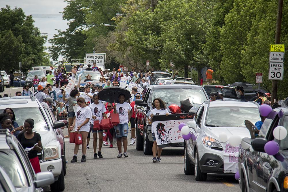 The Juneteenth parade in Five Points, June 17, 2017. (Kevin J. Beaty/Denverite)  juneteenth; five points; black history; kevinjbeaty; denver; colorado; denverite; street fair; festival; welton street;