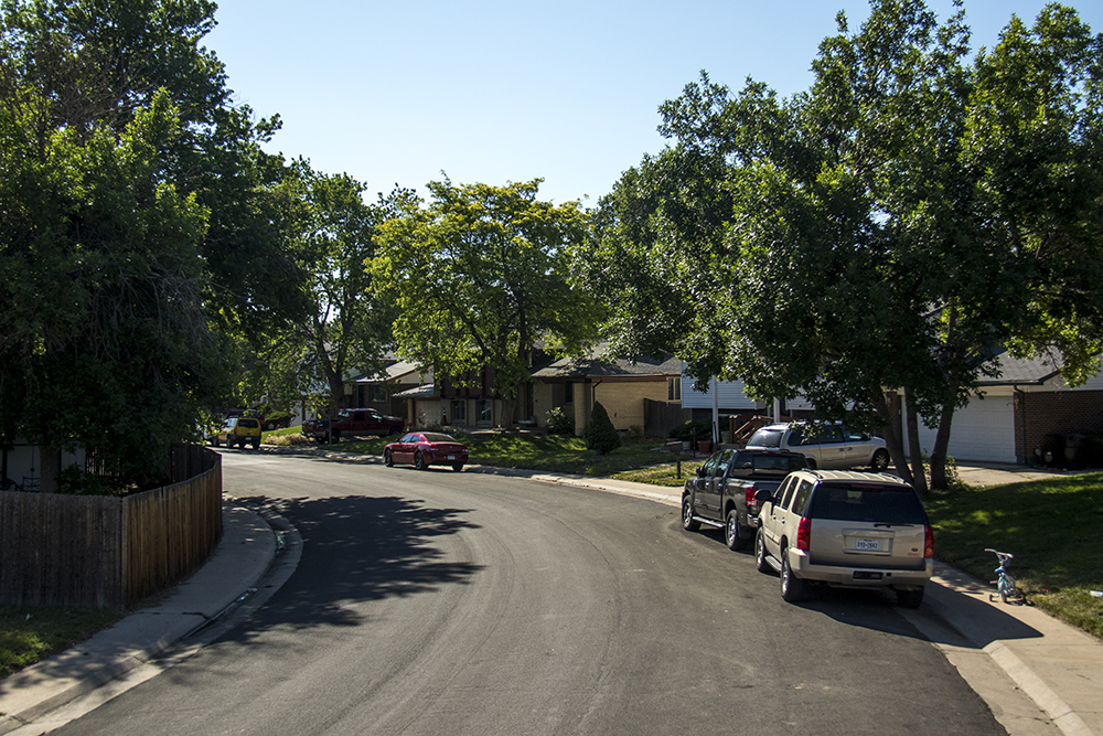 Homes near the intersection of 48th Avenue and Tuscon Street in Montbello. (Kevin J. Beaty/Denverite)   residential real estate; montbello; denver; denverite; colorado; kevinjbeaty;