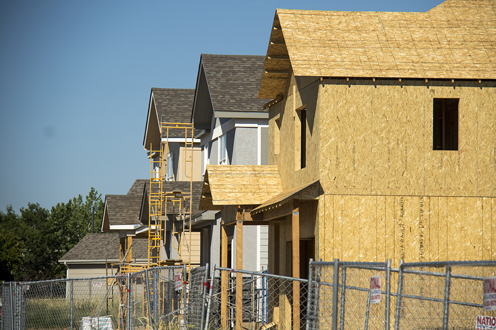 Residential construction in Montbello. (Kevin J. Beaty/Denverite)   construction; development; residential real estate; montbello; denver; denverite; colorado; kevinjbeaty;