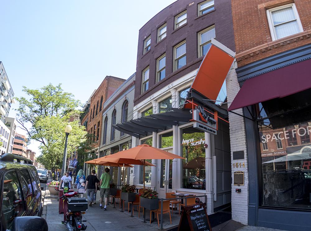 The Barney L. Ford Building, now Hapa sushi restaurant, 1514 Blake St. (Kevin J. Beaty/Denverite)  historic buildings; denver; lodo; downtown; kevinjbeaty; denverite; colorado;