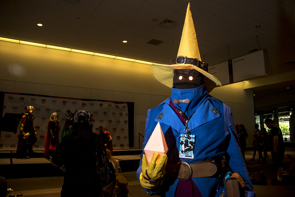 Dirk Chidester as a Black Mage from Final Fantasy. Denver Comic Con 2017. (Kevin J. Beaty/Denverite)  comic con; cosplay; kevinjbeaty; denver; denverite; colorado;