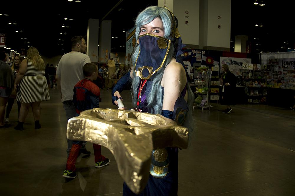 Lina Ware as Azura from Fire Emblem. Denver Comic Con 2017. (Kevin J. Beaty/Denverite)  comic con; cosplay; kevinjbeaty; denver; denverite; colorado;