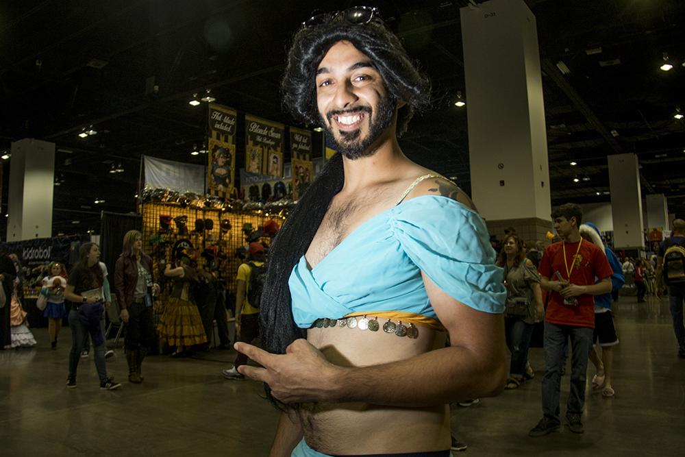 Ased Bhatty as Jasmine. Denver Comic Con 2017. (Kevin J. Beaty/Denverite)  comic con; cosplay; kevinjbeaty; denver; denverite; colorado;