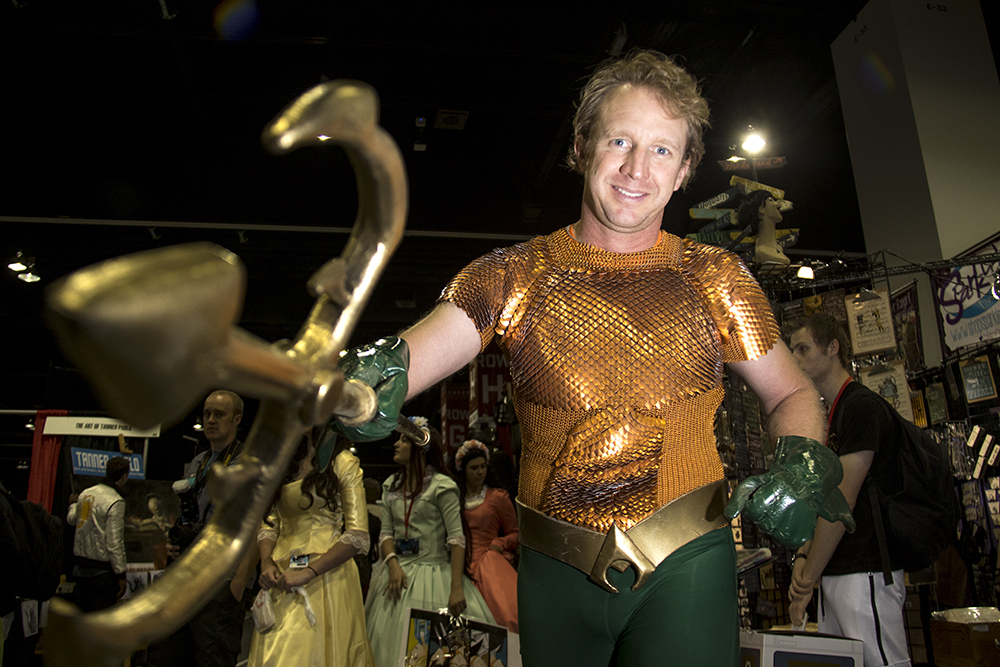 Jeff Meyer as the classic Aquaman. Denver Comic Con 2017. (Kevin J. Beaty/Denverite)  comic con; cosplay; kevinjbeaty; denver; denverite; colorado;