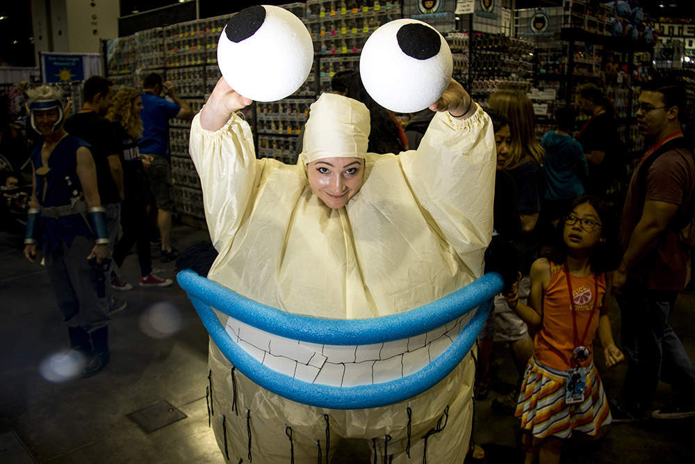 Casey Martin as Crumb from Aaahh!!! Real Monsters. Denver Comic Con 2017. (Kevin J. Beaty/Denverite)  comic con; cosplay; kevinjbeaty; denver; denverite; colorado;