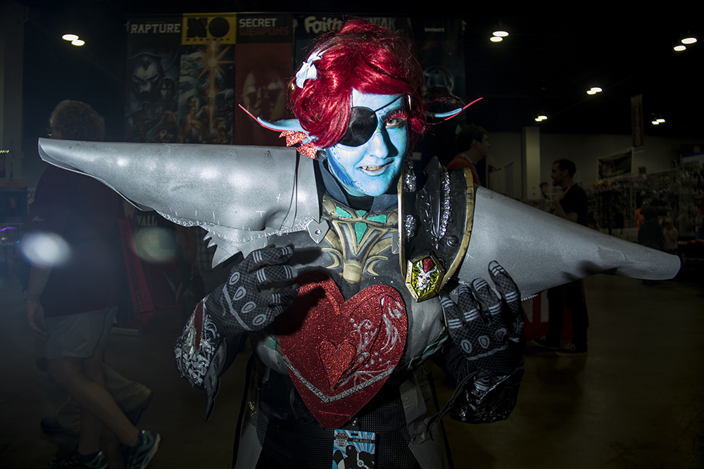 Laine Cave as the Undying from the game, Undertale. Denver Comic Con 2017. (Kevin J. Beaty/Denverite)  comic con; cosplay; kevinjbeaty; denver; denverite; colorado;