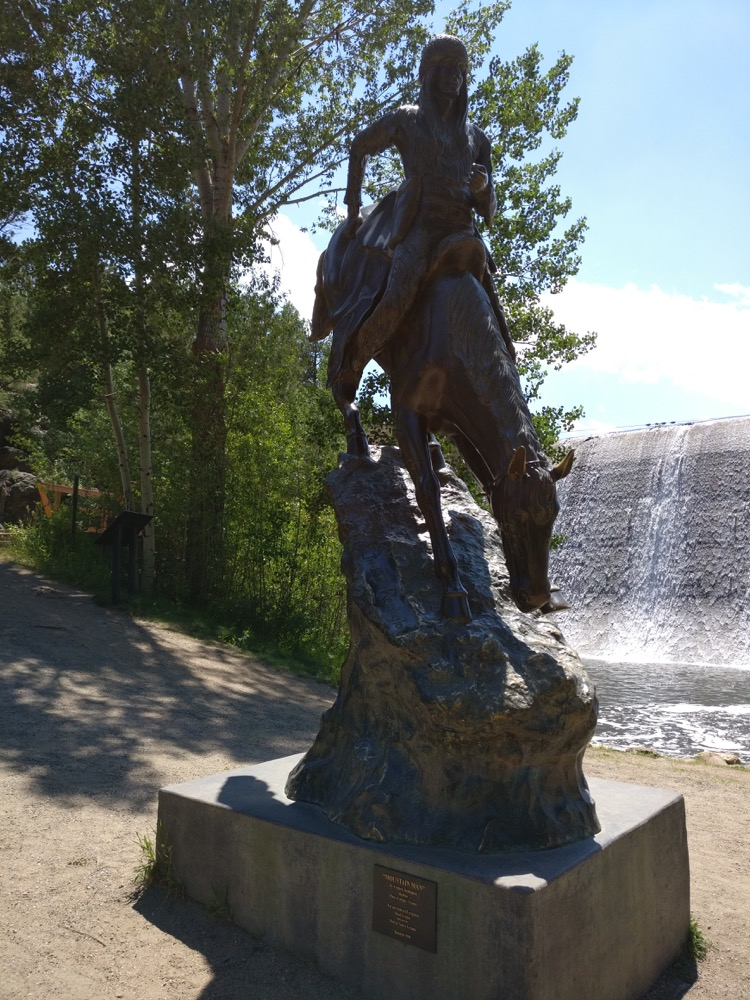 A Frederic Remington sculpture in Evergreen. (Courtesy Matt Baca)