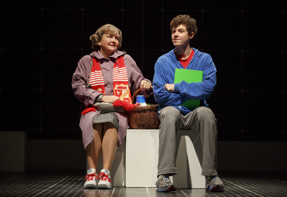 "Amelia White and Adam Langdon in ""The Curious Incident of the Dog in the Night-Time."" (Photo: Joan Marcus)"