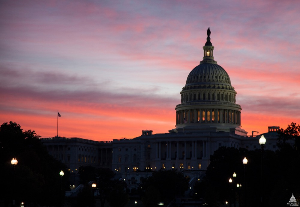 The U.S. Capitol at dawn. (U.S. Capitol)