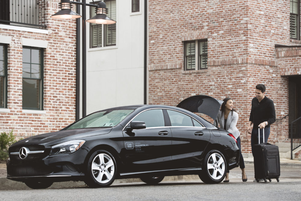 The smaller four-door CLA. (Courtesy of Car2Go)