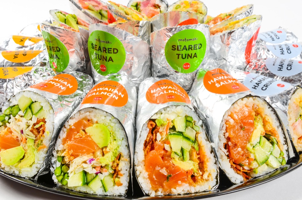 "Motomak, a fast-casual sushi restaurant featuring giant, customizable ""burrito style"" sushi rolls and make-your-own rice bowls is coming to Denver Pavilions. (Courtesy of Motomak)"