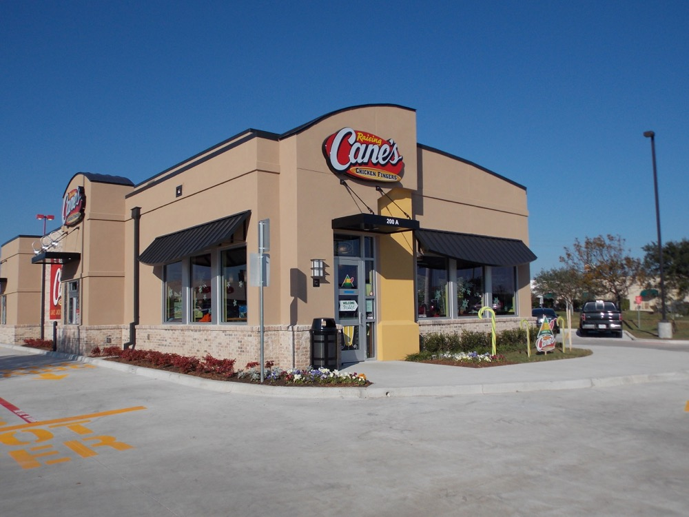 An exterior shot of a Raising Cane's. (Courtesy of Raising Cane's)