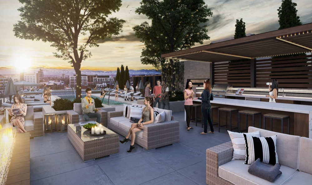 A rendering of the rooftop of the Cherry Creek St. Paul Collection. (Courtesy of BMC Investments)