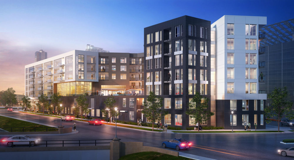 TriVista on Speer, designed by KTGY Architecture + Planning, is a 322-unit luxury apartment building currently under construction adjacent to Denver's Golden Triangle neighborhood. (Courtesy of )