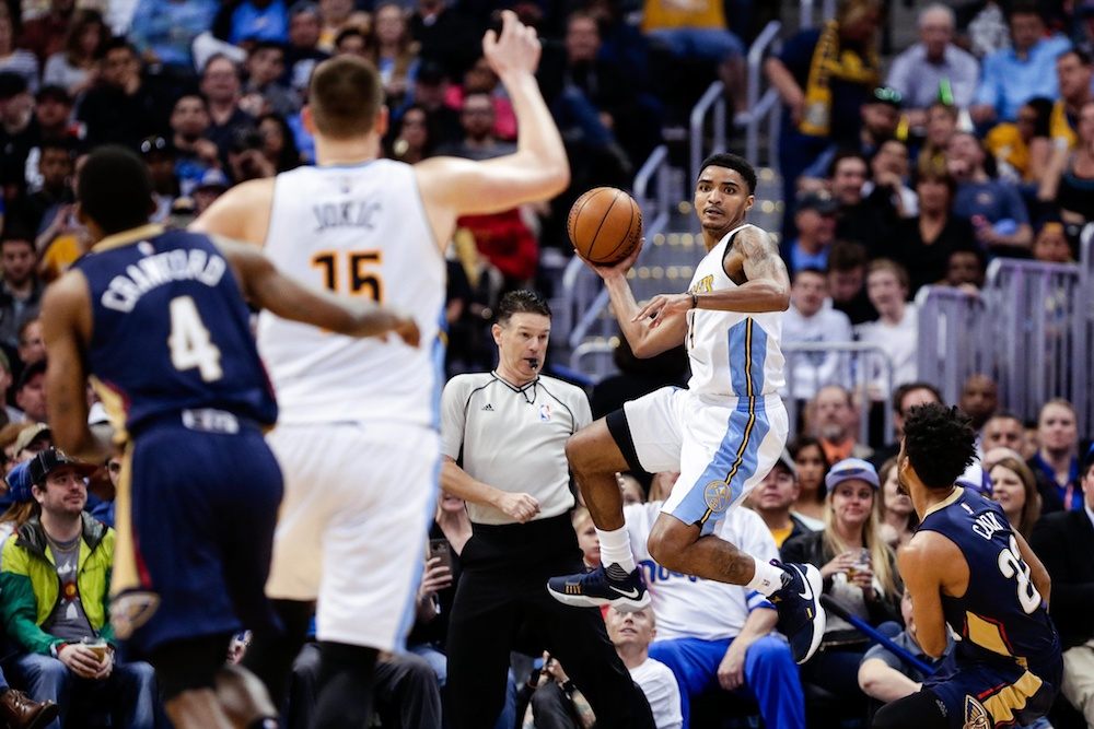 Gary Harris scored a career-high 14.9 points per game in 2016-17. (Isaiah J. Downing/USA Today Sports)