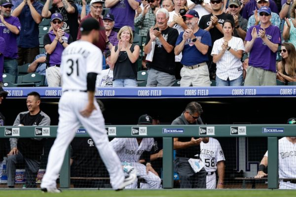 Kyle Freeland received a standing ovation as he walked off the field Wednesday. (Isaiah J. Downing/USA Today Sports)