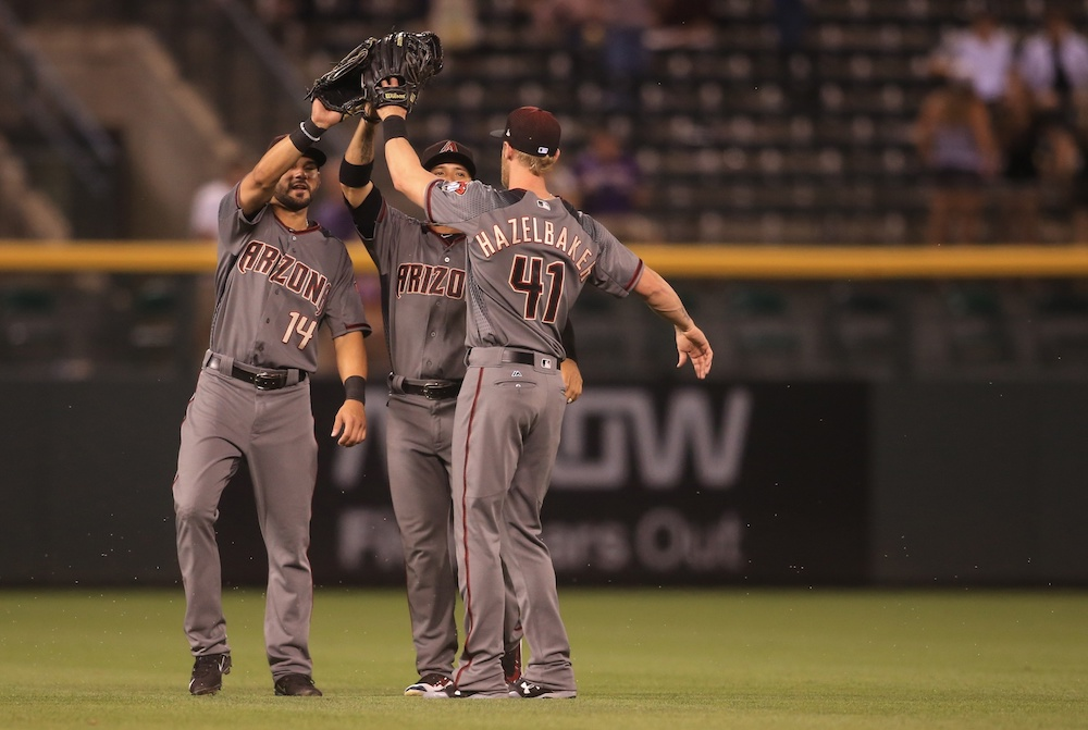The Diamondbacks hung 10 runs on the Rockies in the fourth inning. (Chris Humphreys/USA Today Sports)