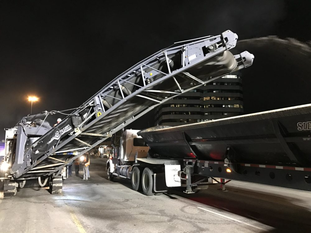 Overnight repair operations on I-25, June 1, 2017. (CDOT)