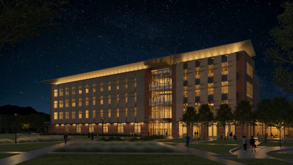 A rendering of the new aerospace engineering building planned for the University of Colorado Boulder. (Courtesy CU Boulder)