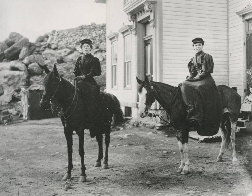 Women on horseback in Central City, Colorado. (Western History & Genealogy Dept./Denver Public Library)