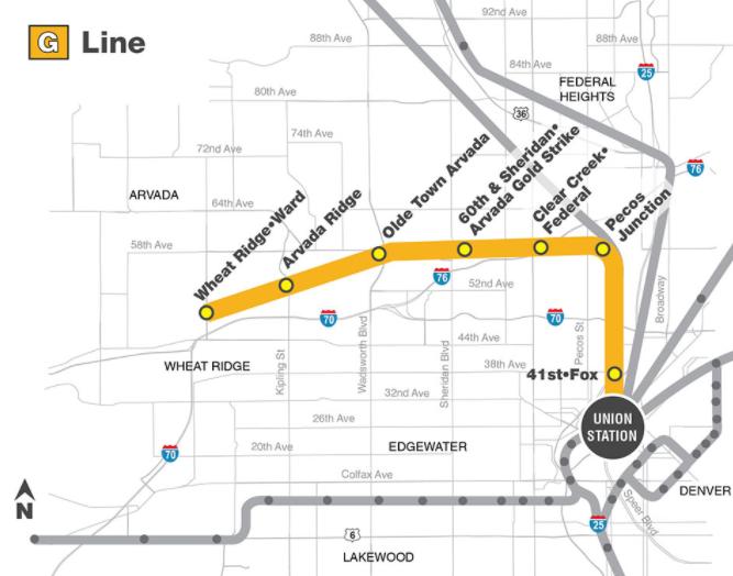 RTD's G Line to Arvada and Wheat Ridge. (RTD)