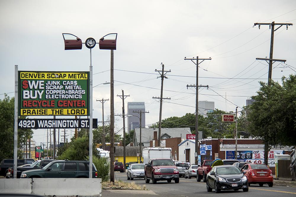 North Washington Street, Globeville, June 29, 2017. (Kevin J. Beaty/Denverite)  washington street; globeville; development; kevinjbeaty; denverite; colorado; denver;
