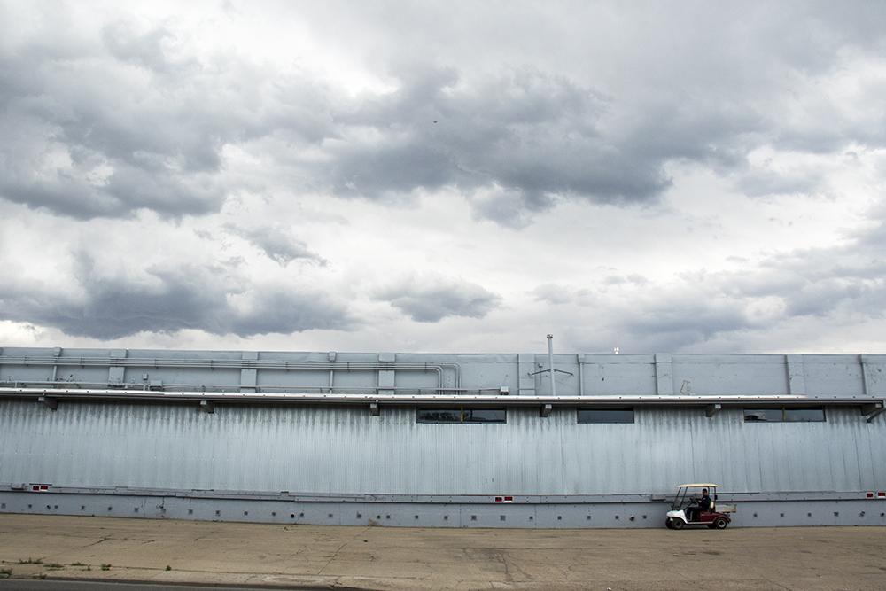 North Washington Street, Globeville, June 29, 2017. (Kevin J. Beaty/Denverite)  washington street; globeville; development; kevinjbeaty; denverite; colorado; denver; weather; clouds; cowx;