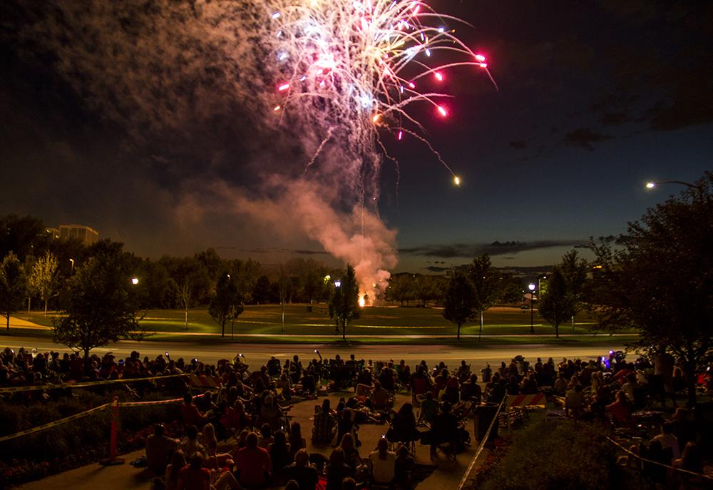 The Glendale 4th of July fireworks show, July 1, 2017. (Kevin J. Beaty/Denverite)  denver; colorado; kevinjbeaty; denverite; fourth of july; 4th of july; july 4th; july fourth; independence day; glendale; fireworks