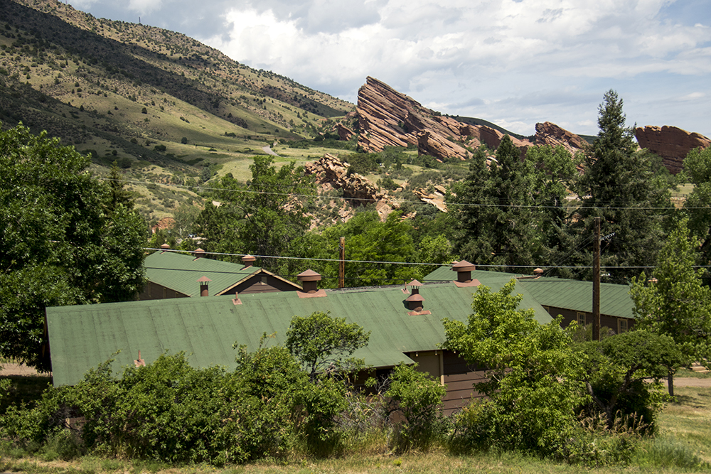 A CCC cabin and the amphitheater members helped build. Red Rocks, July 11, 2017. (Kevin J. Beaty/Denverite)